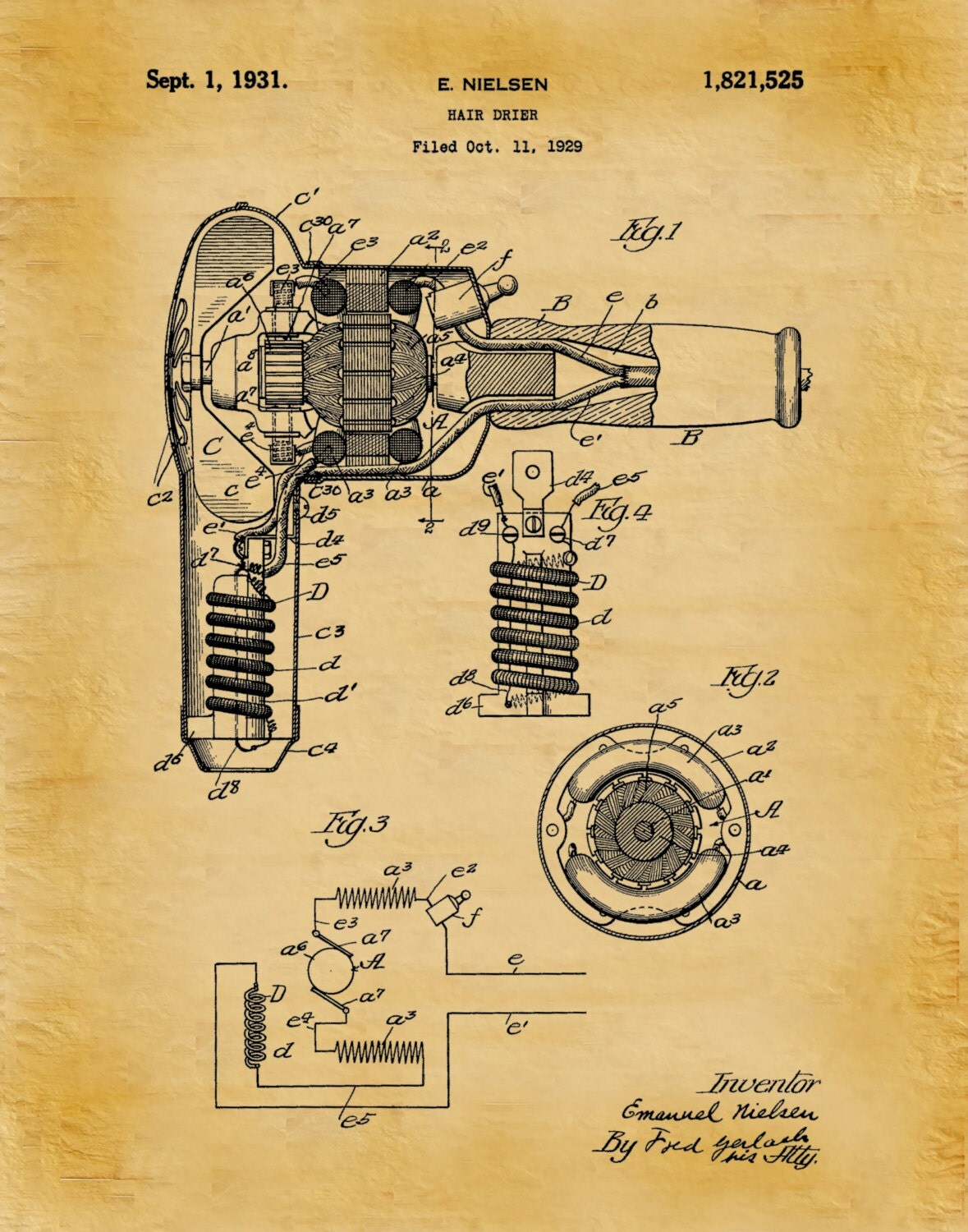 Patent 1931 hair dryer art print poster barber shop art patent 1931 hair dryer art print poster barber shop art hair salon wall art hairdresser art beautician art beauty parlor art malvernweather Image collections