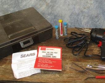 Sears Craftsman Soldering Gun Dual Heat 230/150 Watt Carrying Case Vintage Tool