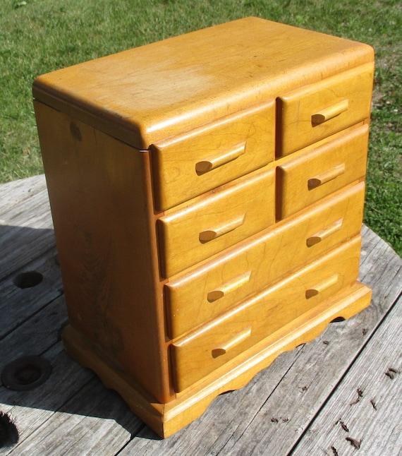 6 drawer vintage wood organizer storage bins arts crafts. Black Bedroom Furniture Sets. Home Design Ideas