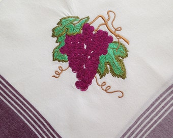 3 Burgandy Kitchen Towels with Tuscany Theme REDUCED