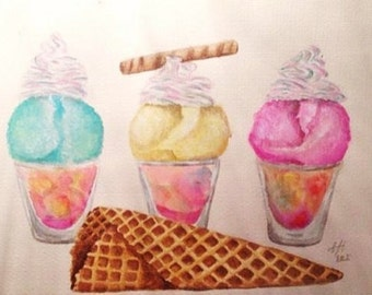 icecream sorbet dessert painting