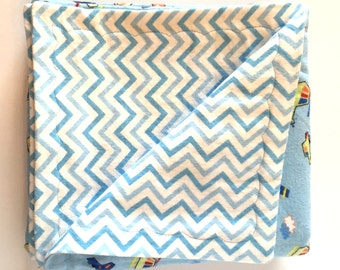 Flannel Airplane Baby Blanket