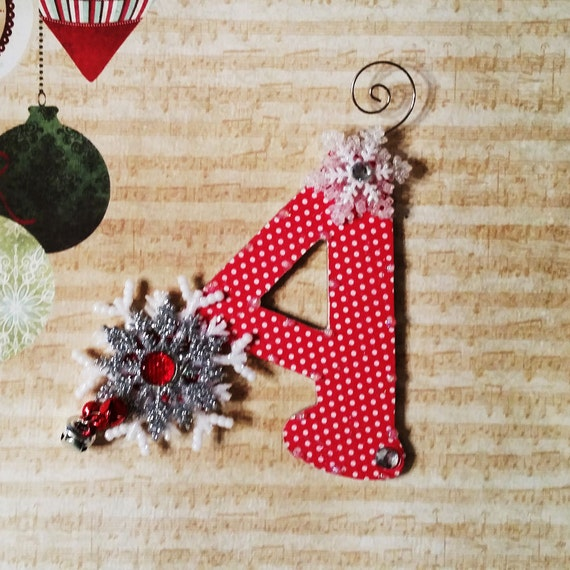 Letter Christmas Ornament Christmas Ornament by ...