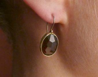 Vermeil and garnet  earrings
