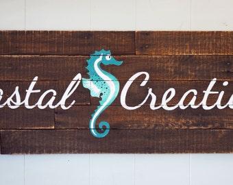 Custom Logo Reclaimed Pallet Wood