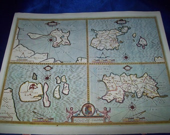 """Map of """"The Channel Islands by John Speed, 1610-11"""" Print"""