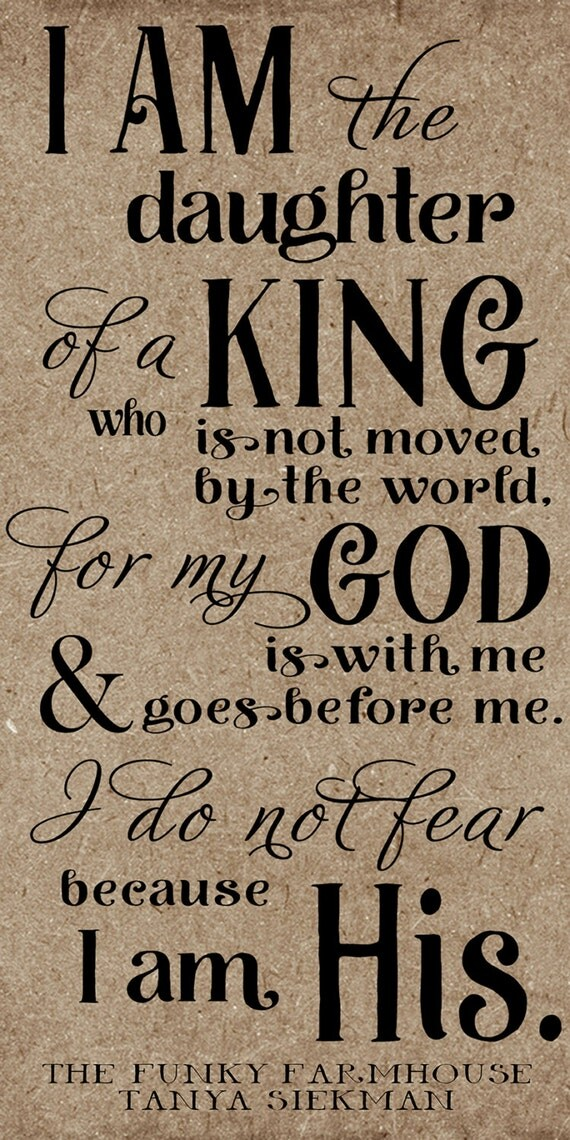 SVG, DXF & PNG - I am the daughter of a king who is not moved by the world, I am his