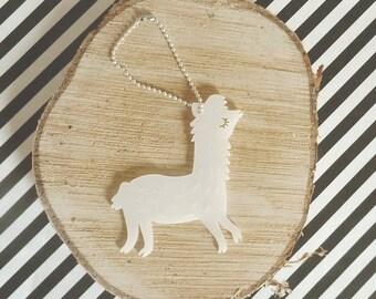Llama Keychain Lasercut from Acrylic