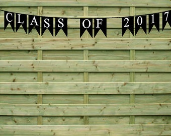 CLASS OF 2017 Garland Bunting Party Decoration Banner