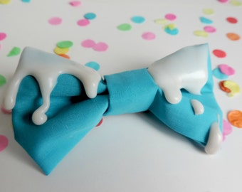 Melted hair clip bows