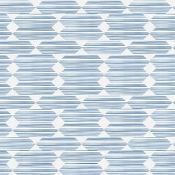 Organic Crib Sheet - 'Lore' Anecdote in Blue - MADE-to-ORDER