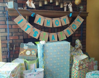 Custom Nautical Baby Shower Party Package