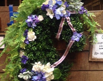 Horse lovers gift! Equestrian home Decor. Horse Head spring or summer wreath. Mothers day gift