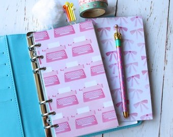 Pink Planner Dashboard/ Typewriter Personal Diary Divider/ Pink Planner accessory