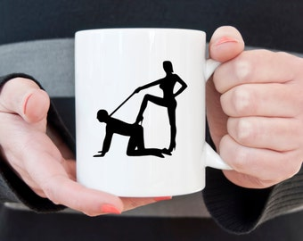 Dominatrix coffee mug, BDSM, coffee mug, coffee cup, gifts for him, gifts for her, gifts under 20, alternative lifestyles, submissive