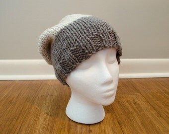Color Block Slouchy Beanie