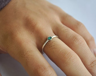 Single Turquoise Ring » Sterling Silver