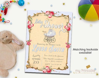 Baby Carriage Baby Shower Invitation / Printable