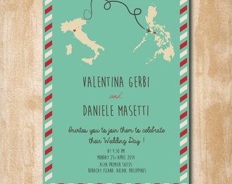 Wedding invitations rustic shabby chic, vintage wedding invitation WEDDING INVITATIONS