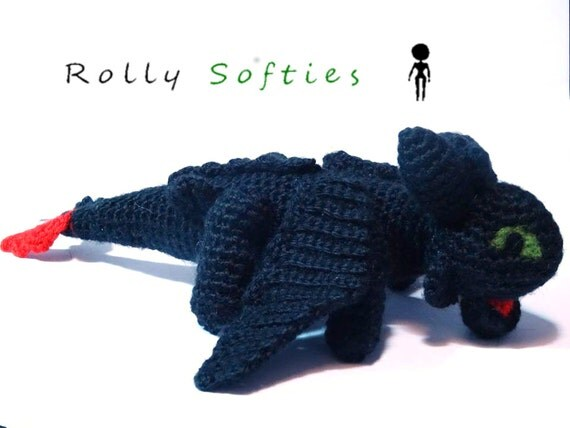 Amigurumi How To Train Your Dragon : Toothless amigurumi How to train your dragon 100% by ...