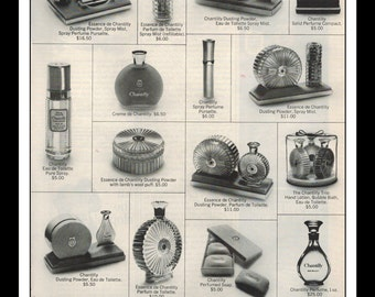 "Vintage Print Ad December 1969 : Chantilly Perfume Wall Art Decor 8.5"" x 11"" Advertisement"
