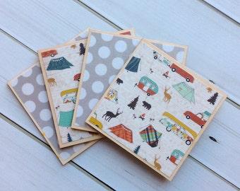 Cottage Decor, Camping Coasters, Cottage Coasters, Cottage Gift, Housewarming Gift, Hostess Gift, Cottage Life, Cottage Owner, Coaster Set