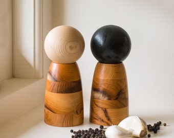 Engish Yew & Ash Salt and Pepper Mills
