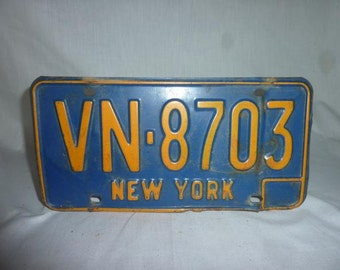 Vintage 1980s New York license Plate