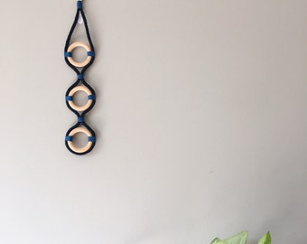 Rope art, wall hanging. Home decor.