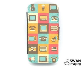Retro Gadgets Design iPhone Wallet Case ~ iPhone 4 - iPhone 4S - Retro Gadgets #2