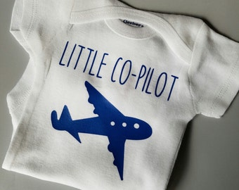 Little Co-Pilot Baby Clothes, Pilot Dad, Aviator, Air Force Baby, Airplane, Gender Neutral Baby Clothes, Pilot Baby Clothes, Co-Pilot Baby