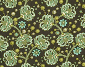 Whimsy Forest Fabric - Birds and Bees by Tula Pink for Free Spirit - Bees Knees in Forest - Fabric By the Half Yard
