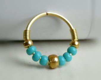 cartilage hoop earring // nose ring // tragus hoop // helix hoop earring