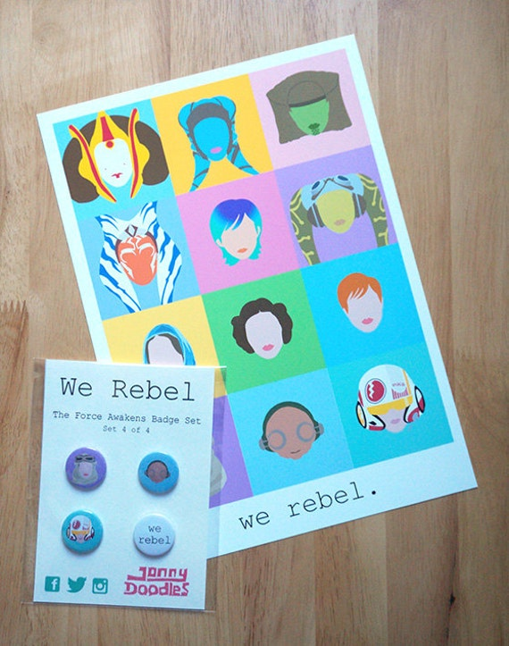 We Rebel. Digital Print & Badge Set.