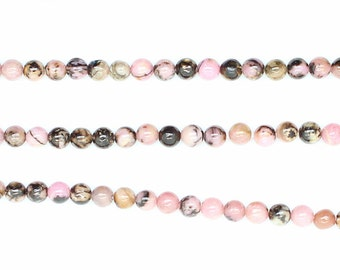 """Colorful Round Natural Rose Agant Beads-- 3mm--One strand 15.5""""--AAquality"""