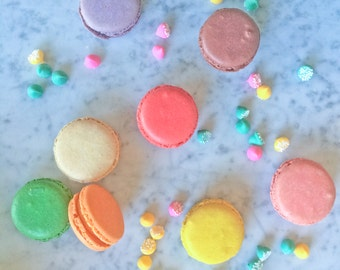12 Assorted French Macaron Cookies Sampler- 1 dozen (up to 4 flavors)
