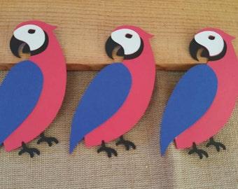 Macaw Bird Die Cut Set of 3