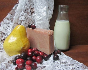 Goats Milk Soap - CRANBERRY PEAR