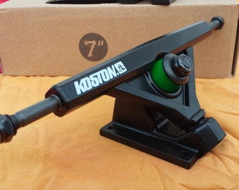 KOSTON Longboard Trucks - Skateboard Trucks 180mm. This is a Pair of Black Trucks.