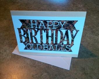 Happy Birthday Old Balls Humorous Birthday Card