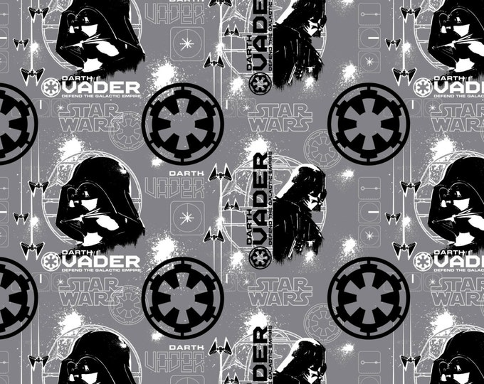 Star Wars Rogue One Collection by Camelot - Grey Star Wars Darth Vader - Cotton Woven Fabric