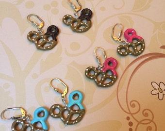 Mickey Pretzel Earrings