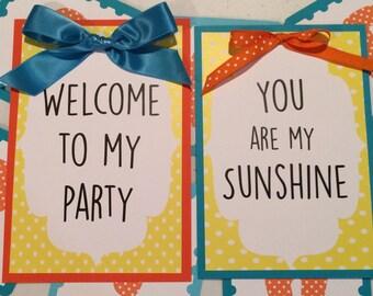 You are my Sunshine: Birthday Decorations