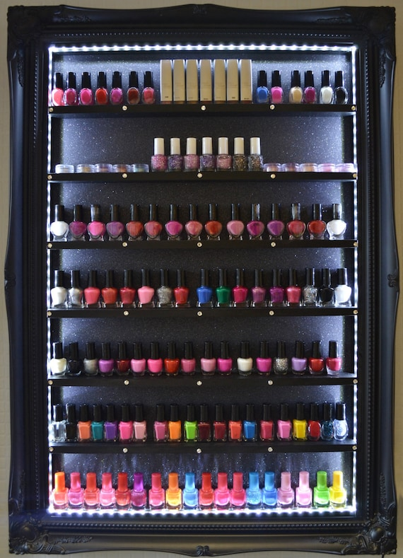 Nail Polish Rack Beauty Display Illuminated Salon Furniture