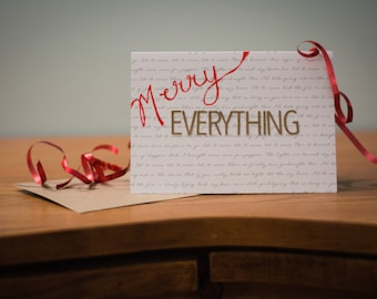 Merry Everything Handmade Greeting Card by Full of Whimsy