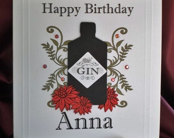 Gin Birthday Card