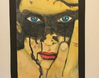 Portrait of a Boy/ Watercolor art/ Boy