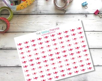 K1 Small Shark Week period Aunt Flo time of the month stickers for Erin Condren Life Planner/Plum Paper Planner - set of 100