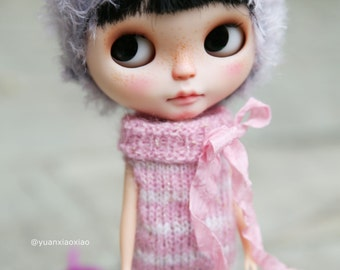 Yuan's Blythe outfit (wool sweater, trousers) doll /licca cloth/handmade/kniting