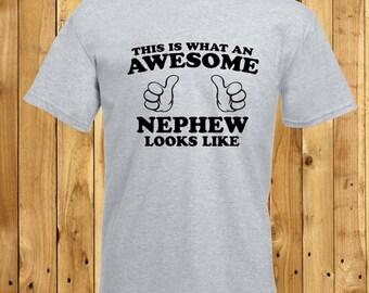Awesome Nephew T-Shirt, Best Nephew Tshirt, Nephew Birthday Present, New Nephew Shirt, New Auntie Gift, Amazing Nephew, Worlds Best Nephew